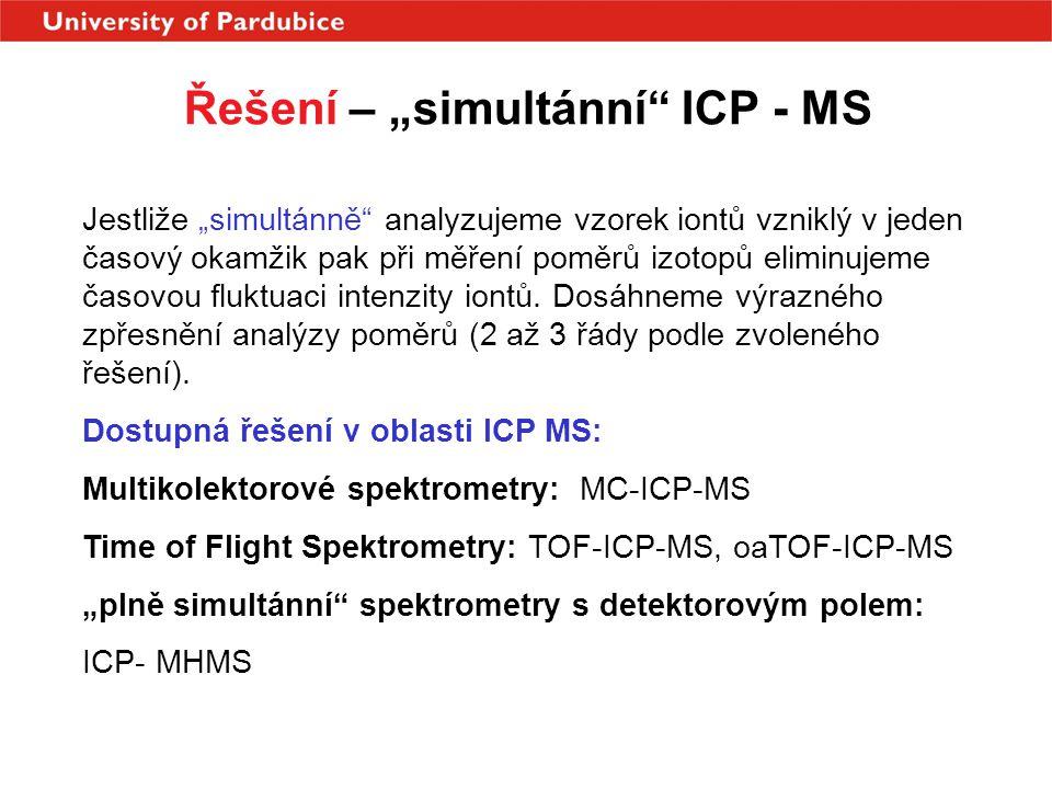 """Řešení – """"simultánní ICP - MS"""