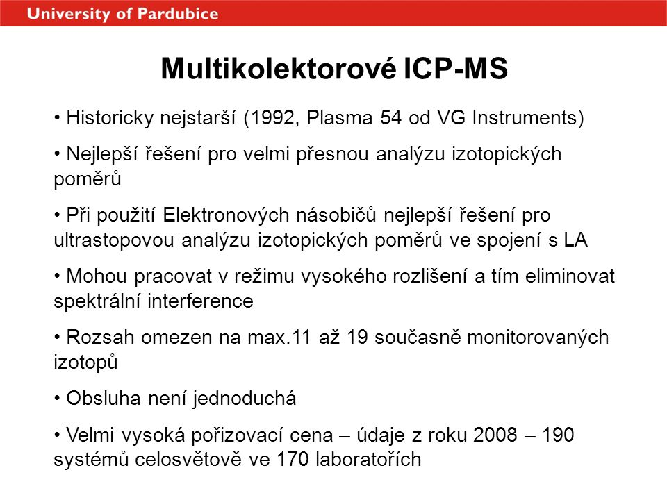 Multikolektorové ICP-MS
