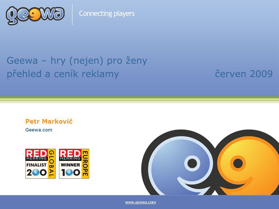 Geewa – hry (nejen) pro ženy přehled a ceník reklamy červen 2009