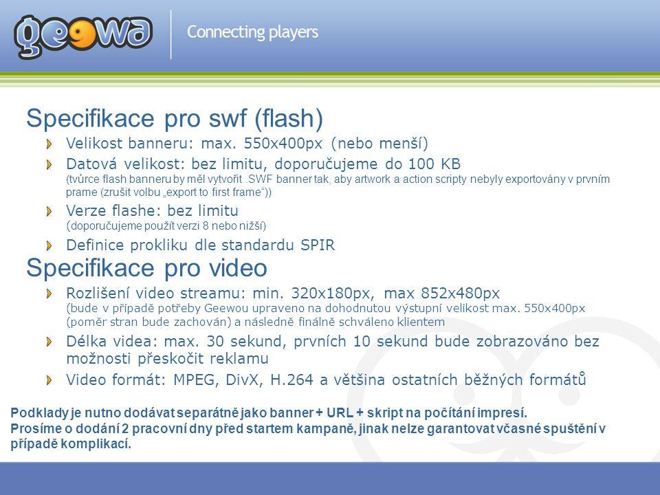 Specifikace pro swf (flash)