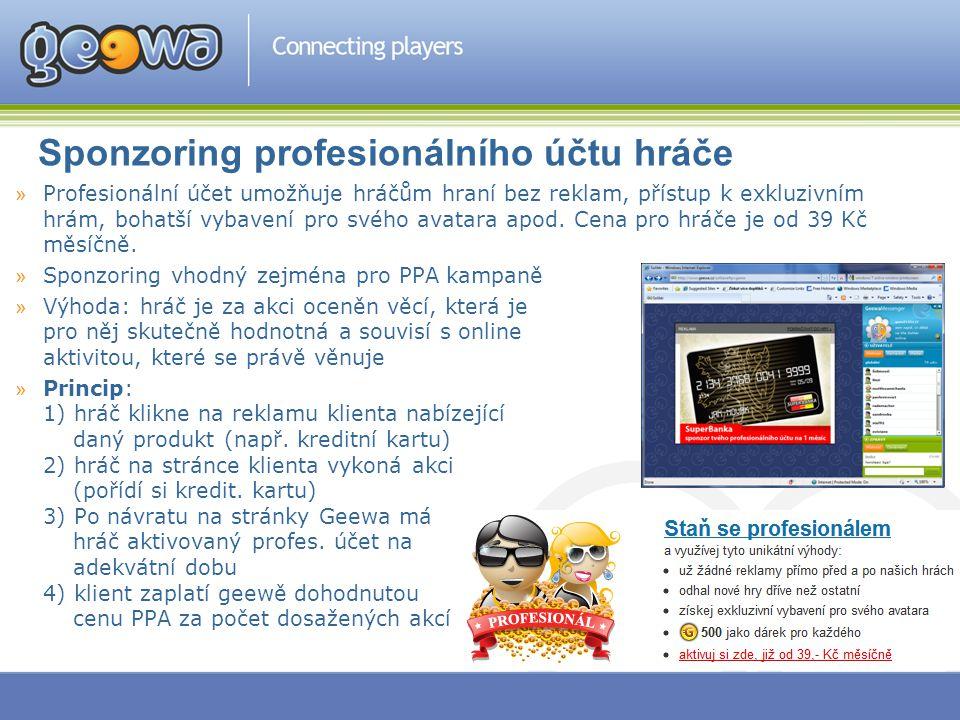 Sponzoring profesionálního účtu hráče