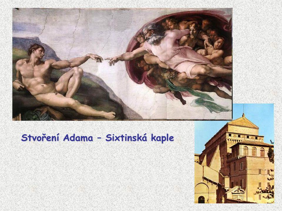 Stvoření Adama – Sixtinská kaple
