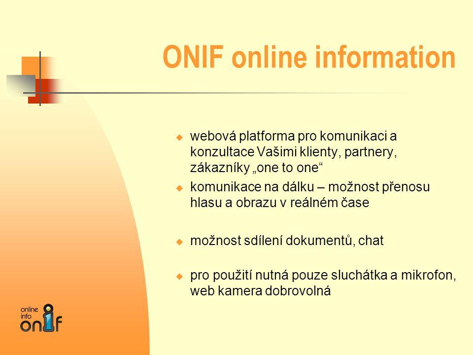 ONIF online information