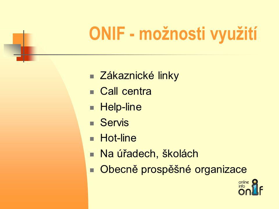 ONIF - možnosti využití