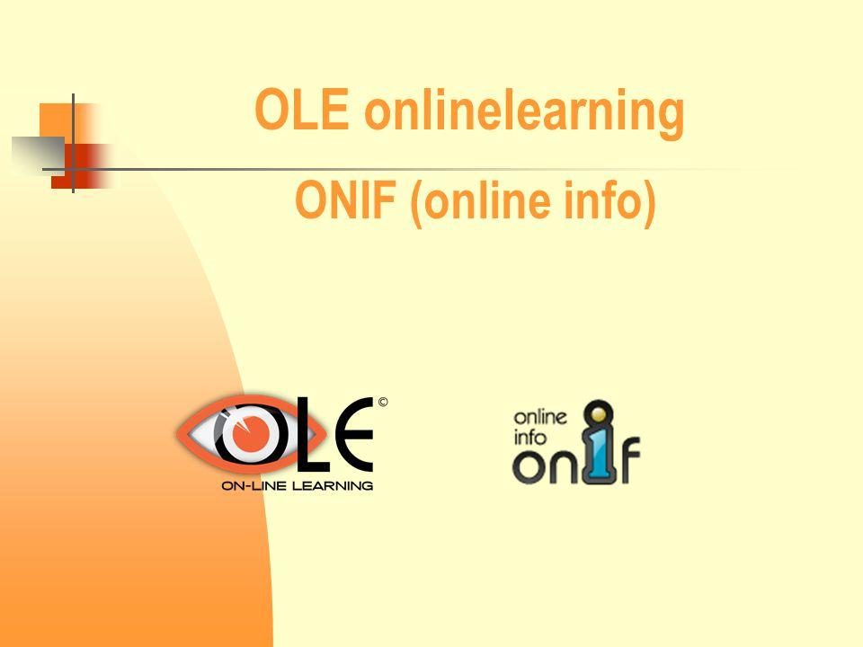 OLE onlinelearning ONIF (online info)