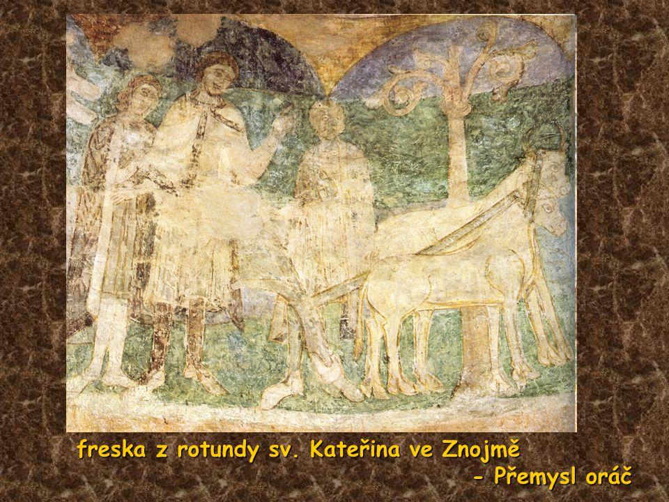 freska z rotundy sv. Kateřina ve Znojmě