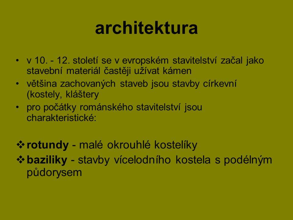 architektura rotundy - malé okrouhlé kostelíky
