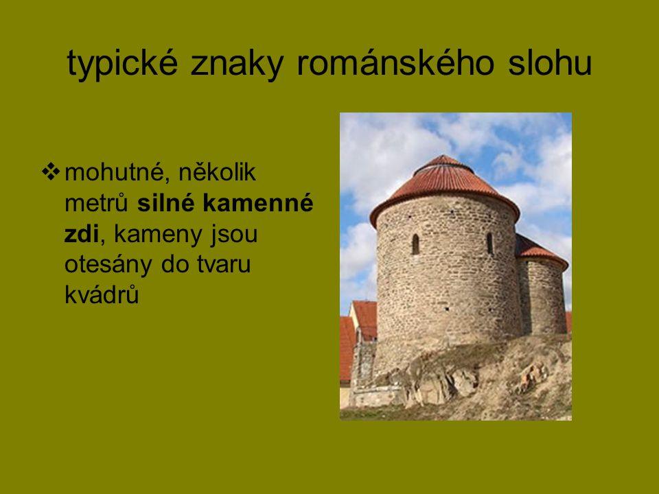 typické znaky románského slohu