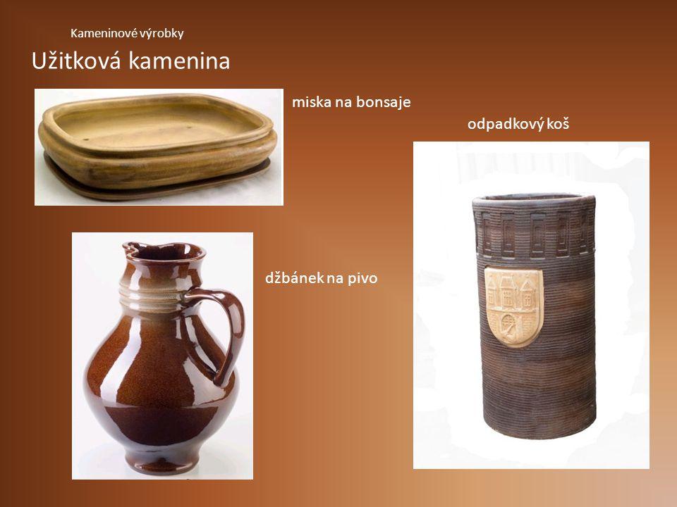 Užitková kamenina miska na bonsaje odpadkový koš džbánek na pivo