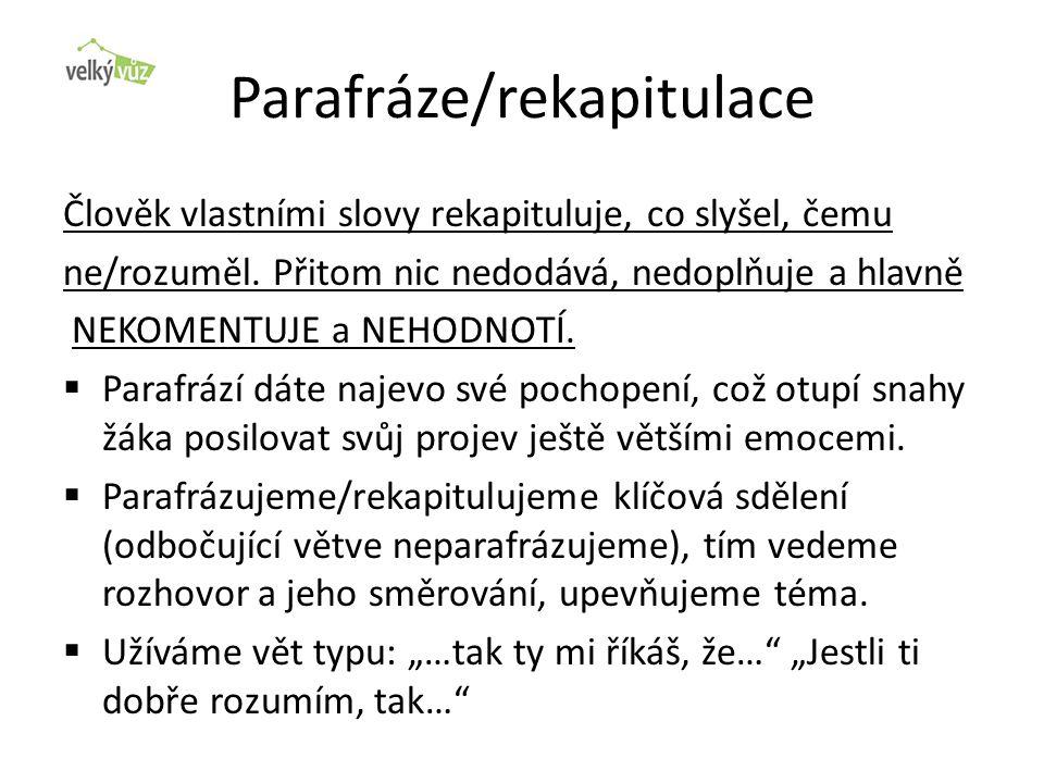 Parafráze/rekapitulace