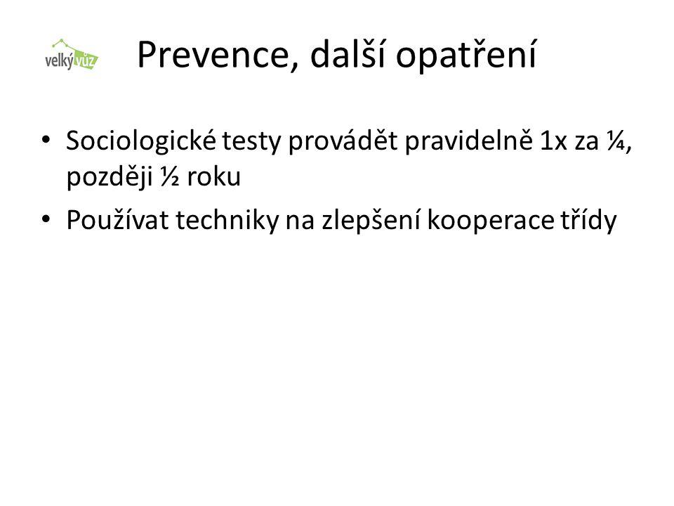 Prevence, další opatření