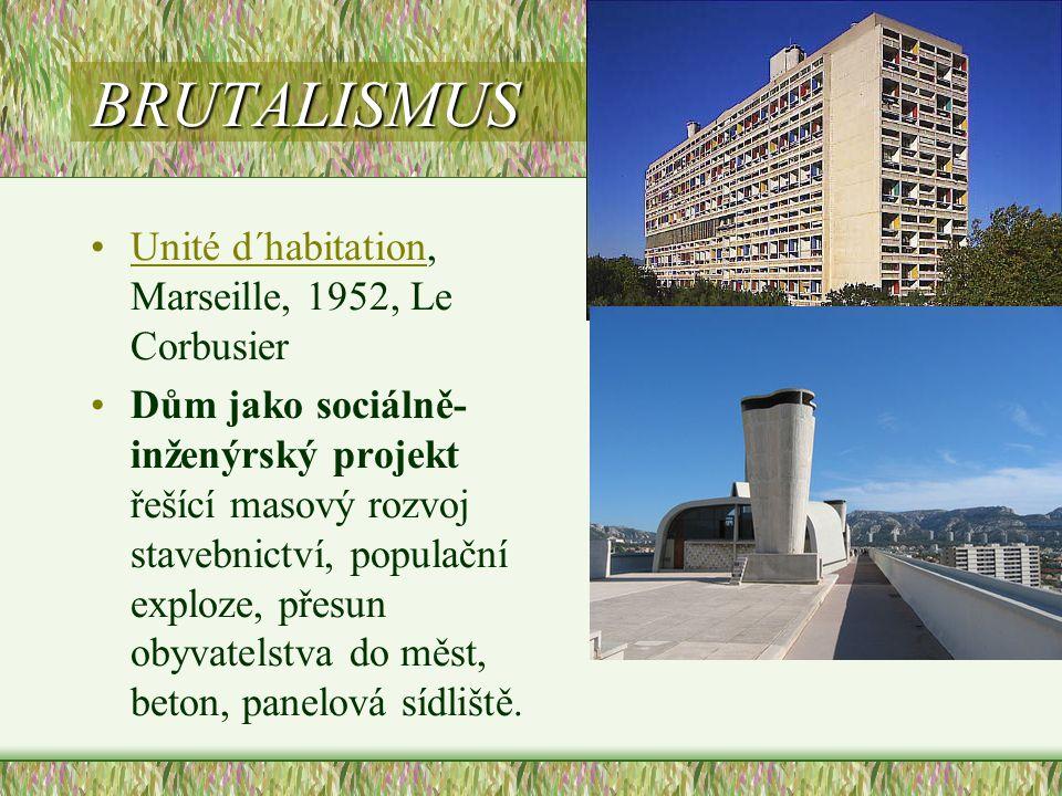 BRUTALISMUS Unité d´habitation, Marseille, 1952, Le Corbusier
