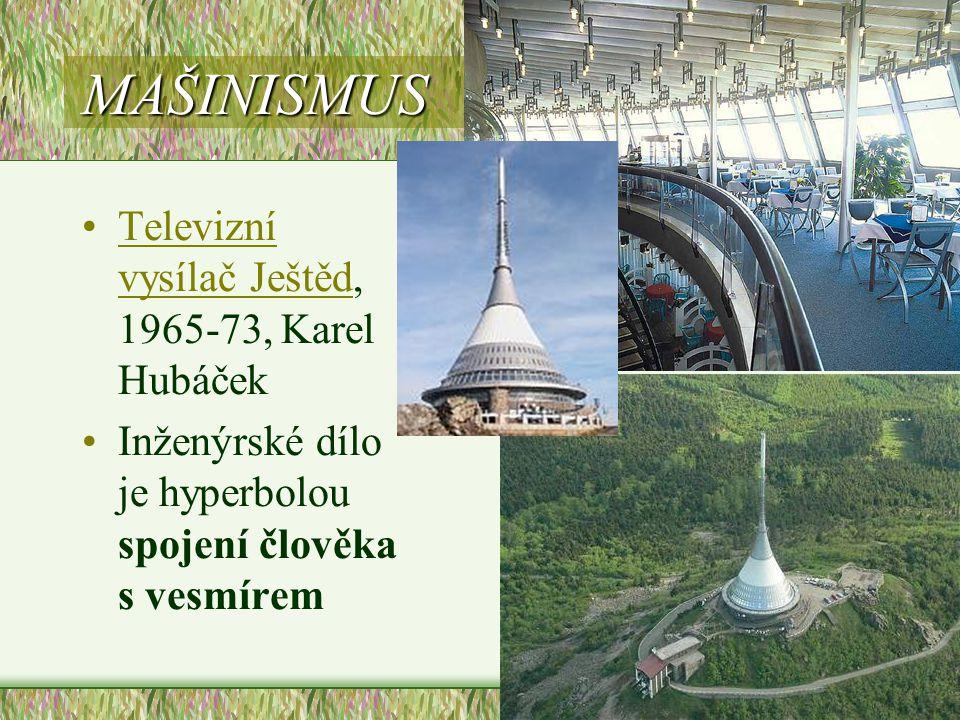 MAŠINISMUS Televizní vysílač Ještěd, 1965-73, Karel Hubáček
