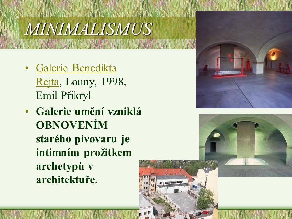 MINIMALISMUS Galerie Benedikta Rejta, Louny, 1998, Emil Přikryl