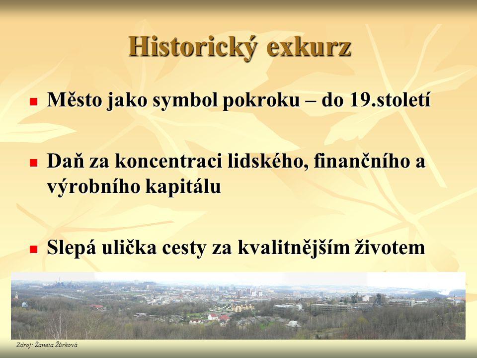 Historický exkurz Město jako symbol pokroku – do 19.století