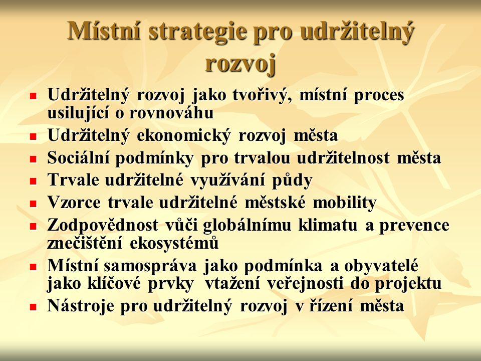 Místní strategie pro udržitelný rozvoj