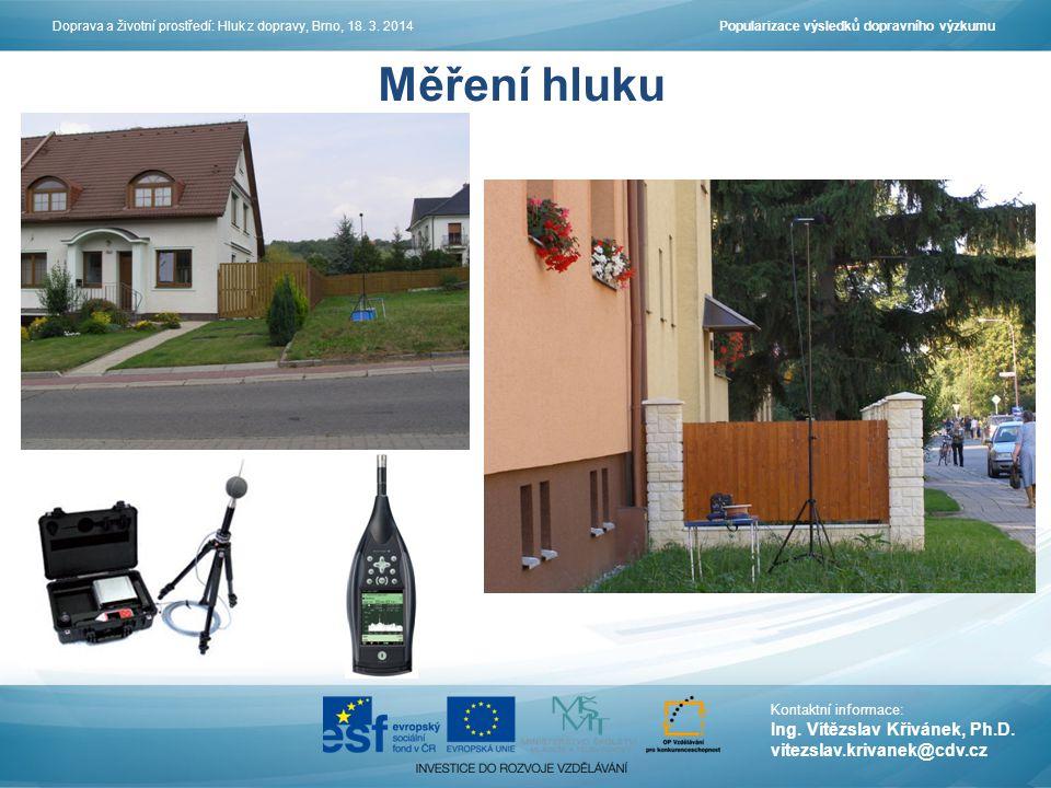 Měření hluku Ing. Vítězslav Křivánek, Ph.D. vitezslav.krivanek@cdv.cz