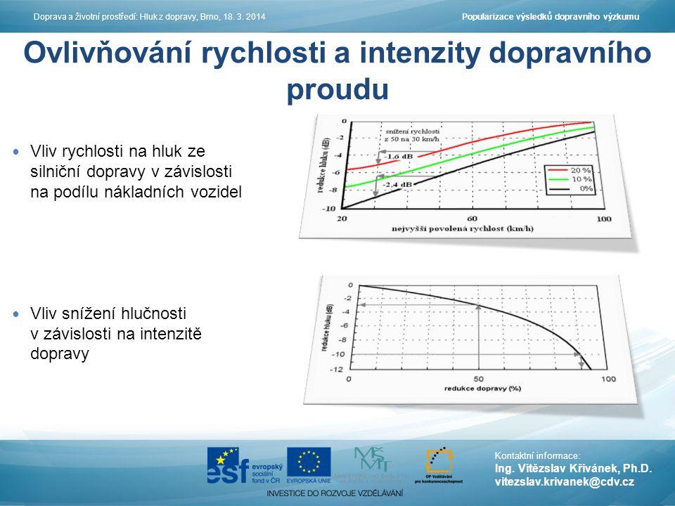 Ovlivňování rychlosti a intenzity dopravního proudu