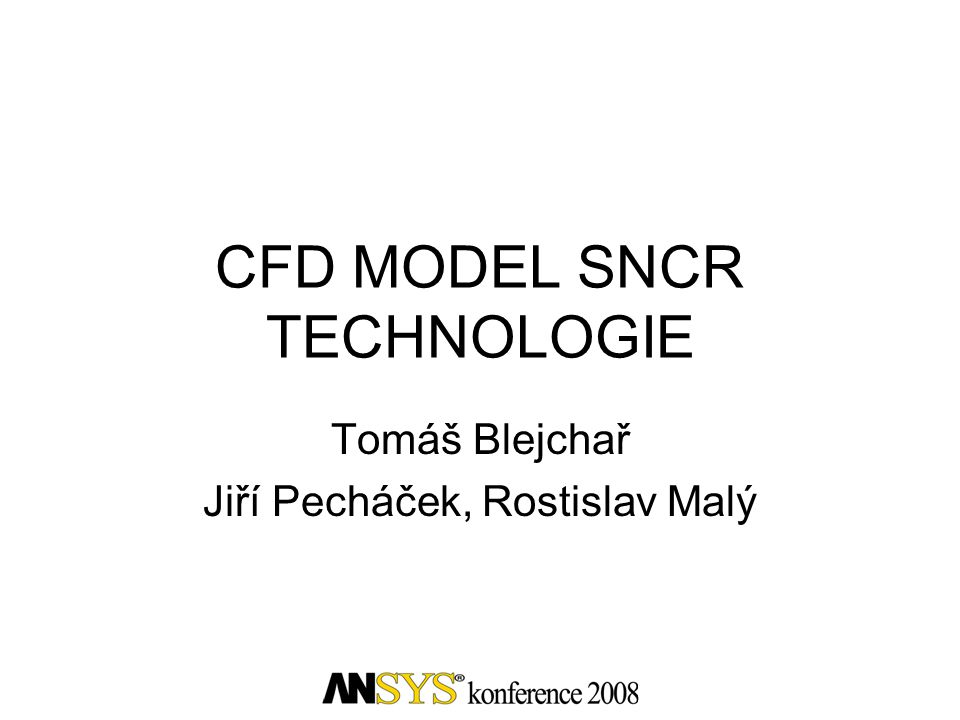 CFD MODEL SNCR TECHNOLOGIE