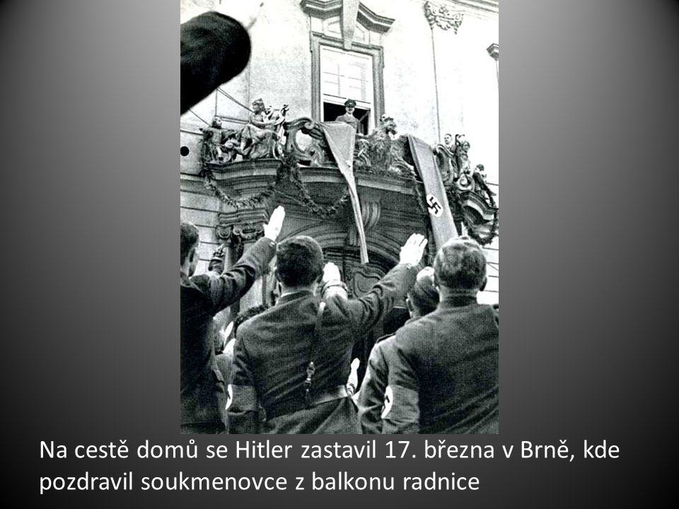 Na cestě domů se Hitler zastavil 17
