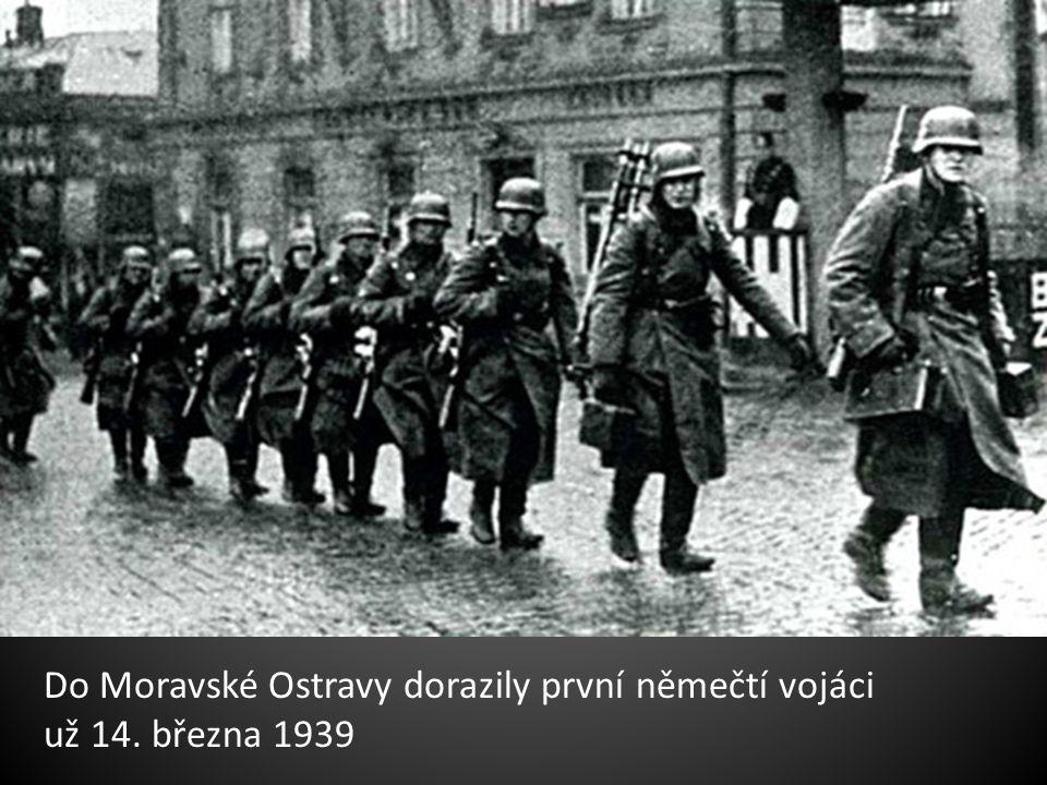 Do Moravské Ostravy dorazily první němečtí vojáci
