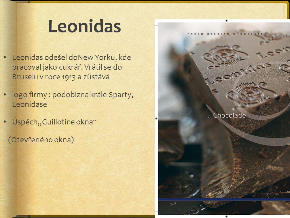 Leonidas Leonidas odešel doNew Yorku, kde pracoval jako cukrář. Vrátil se do Bruselu v roce 1913 a zůstává.