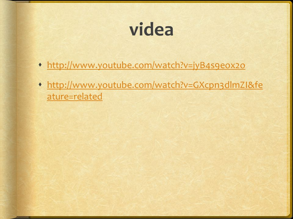 videa http://www.youtube.com/watch v=jyB4s9eox2o