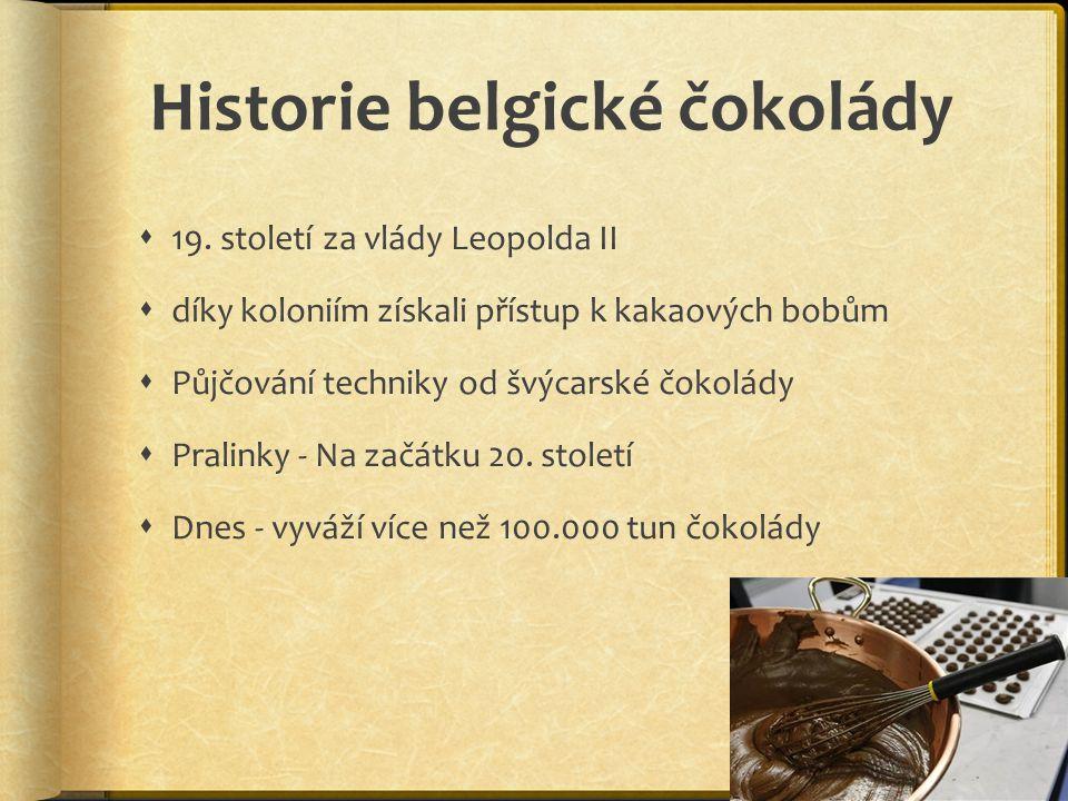 Historie belgické čokolády