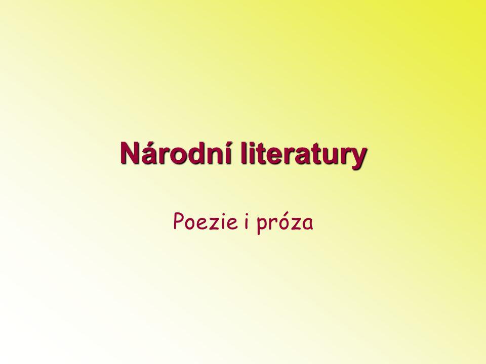 Národní literatury Poezie i próza