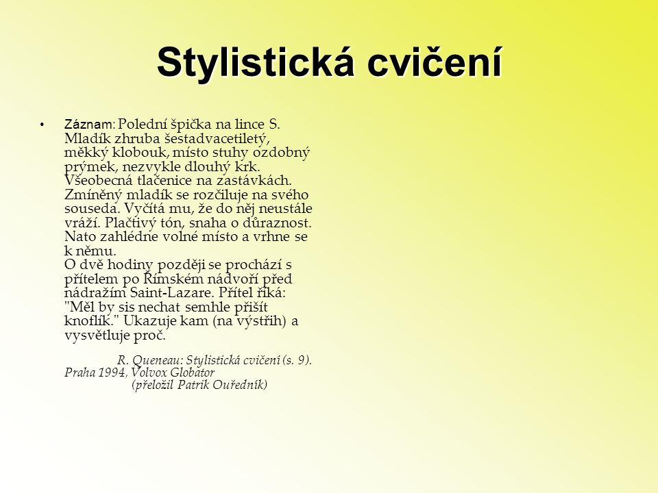 Stylistická cvičení