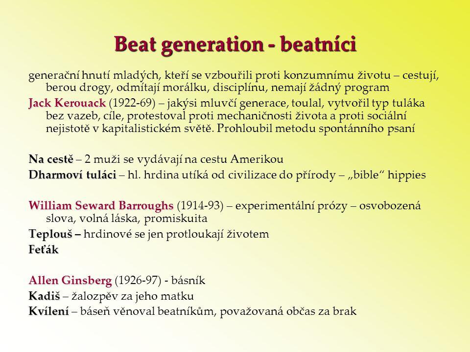 Beat generation - beatníci
