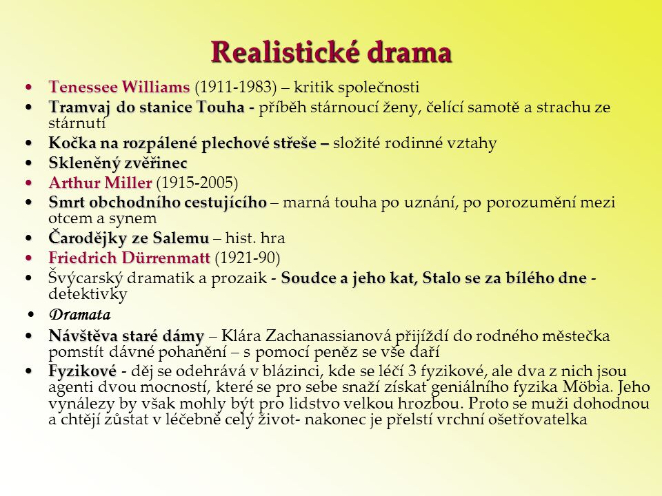Realistické drama Dramata