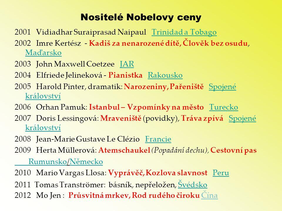 Nositelé Nobelovy ceny
