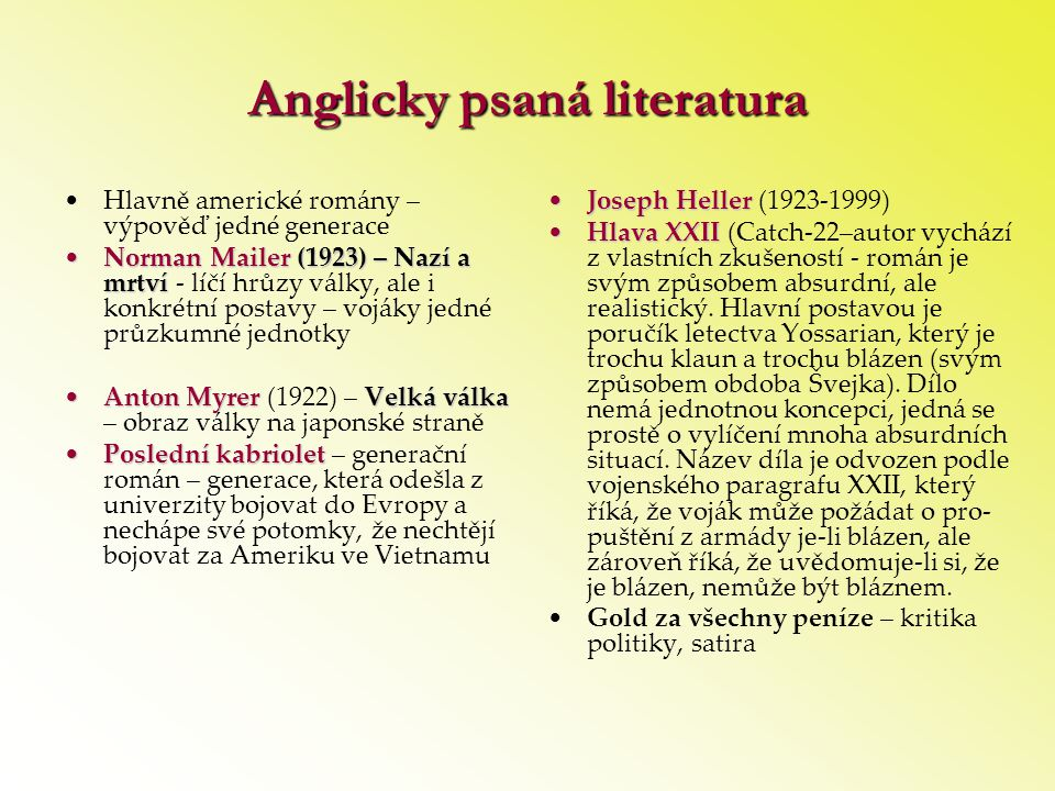 Anglicky psaná literatura