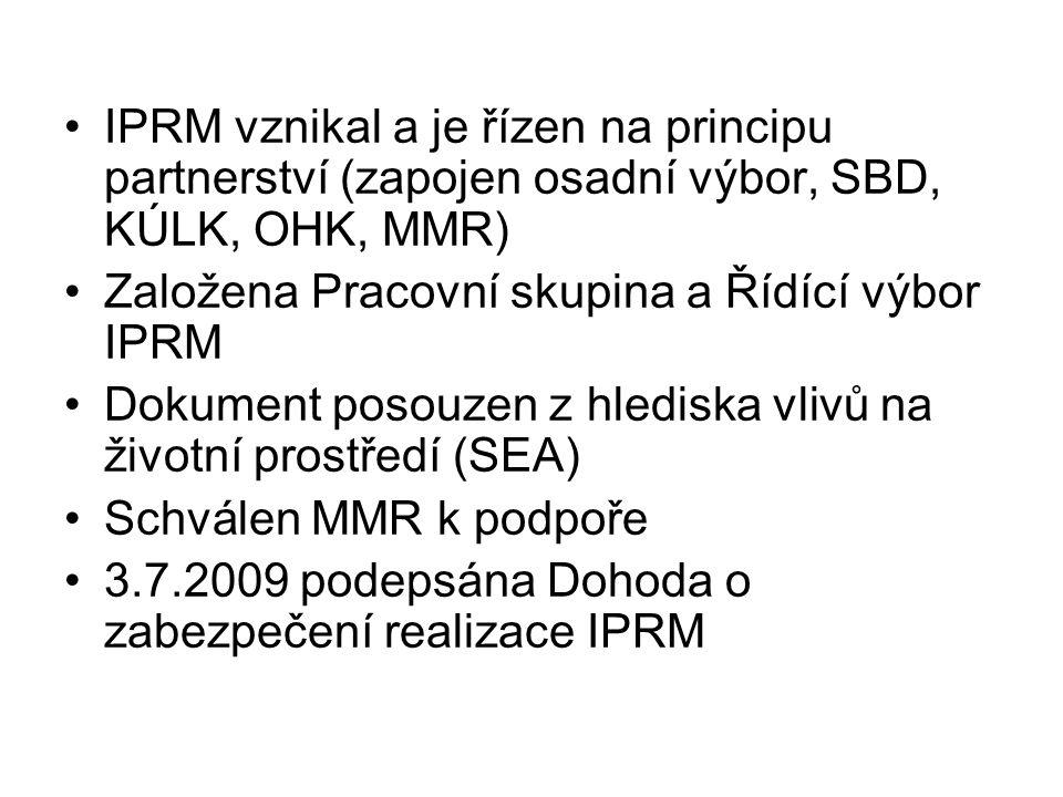 IPRM vznikal a je řízen na principu partnerství (zapojen osadní výbor, SBD, KÚLK, OHK, MMR)