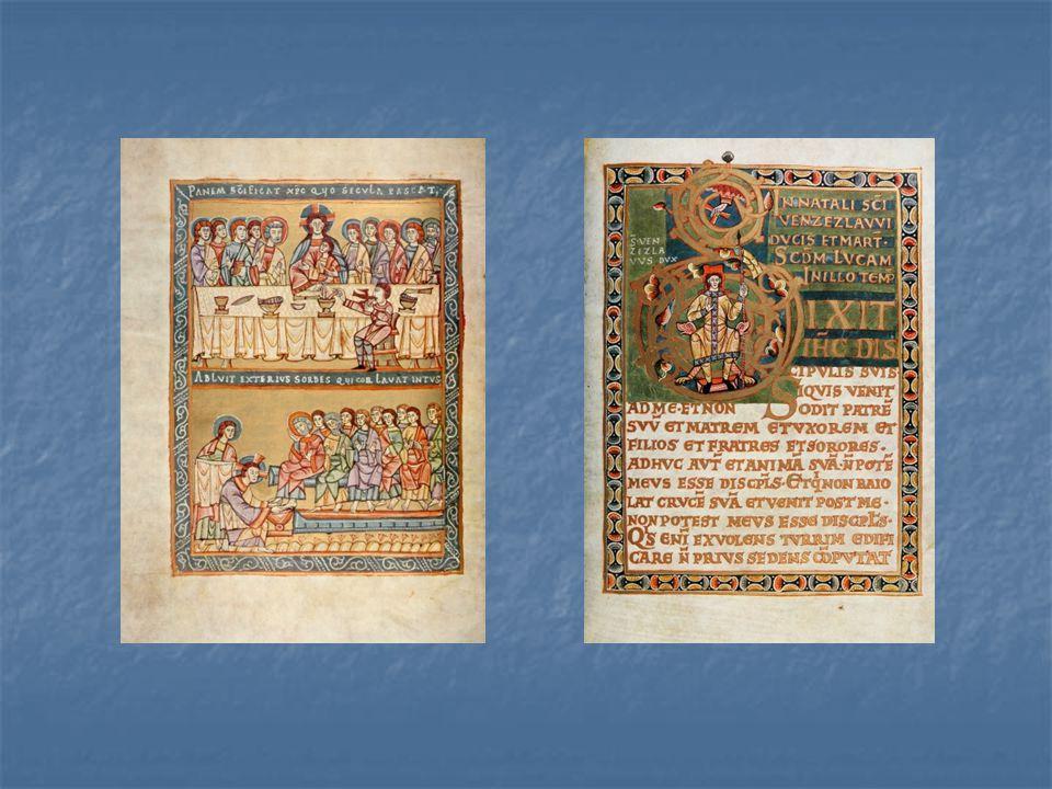 Ukázky z vyšehradského kodexu – výjevy ze života Ježíše Krista