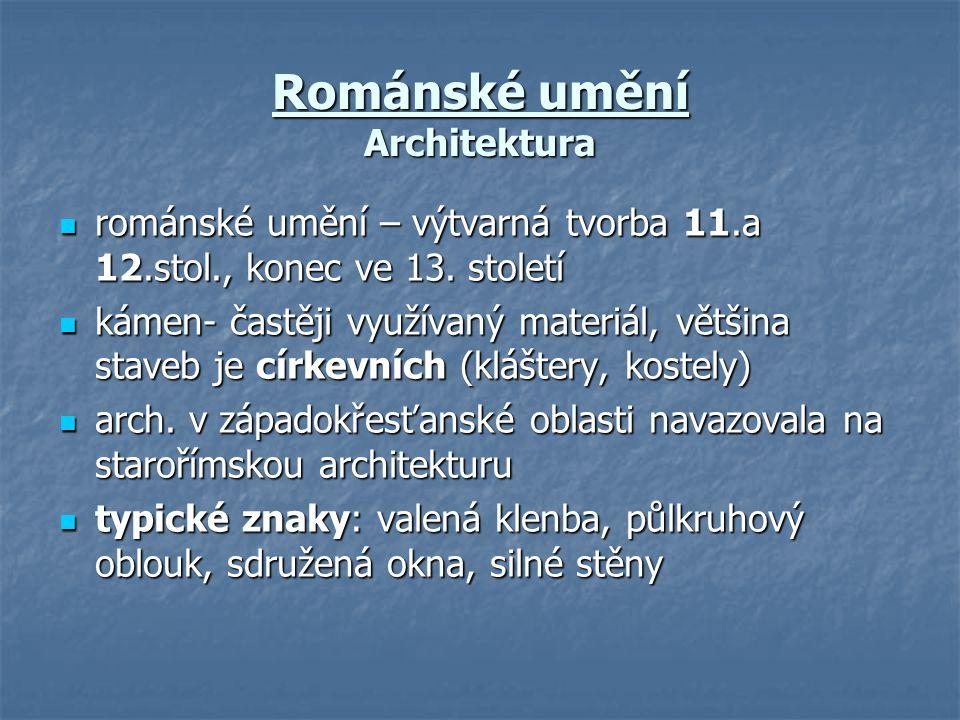 Románské umění Architektura
