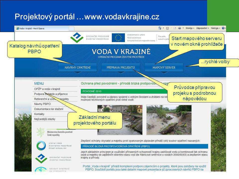 Projektový portál …www.vodavkrajine.cz