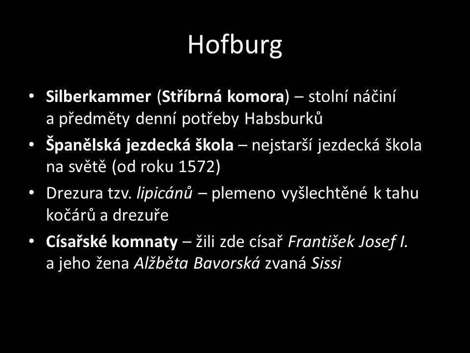 Hofburg Silberkammer (Stříbrná komora) – stolní náčiní a předměty denní potřeby Habsburků.