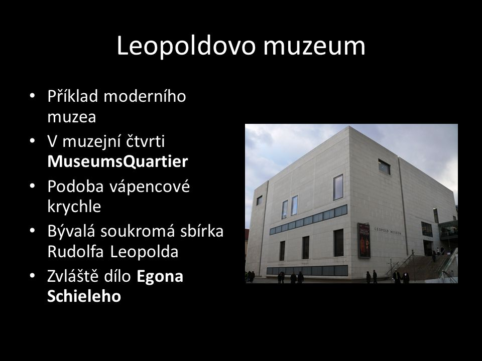 Leopoldovo muzeum Příklad moderního muzea