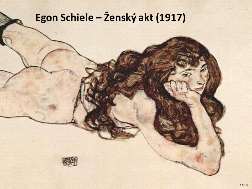 Egon Schiele – Ženský akt (1917)