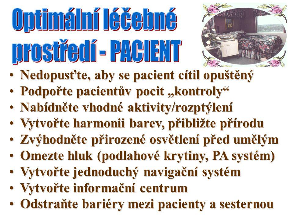 Optimální léčebné prostředí - PACIENT