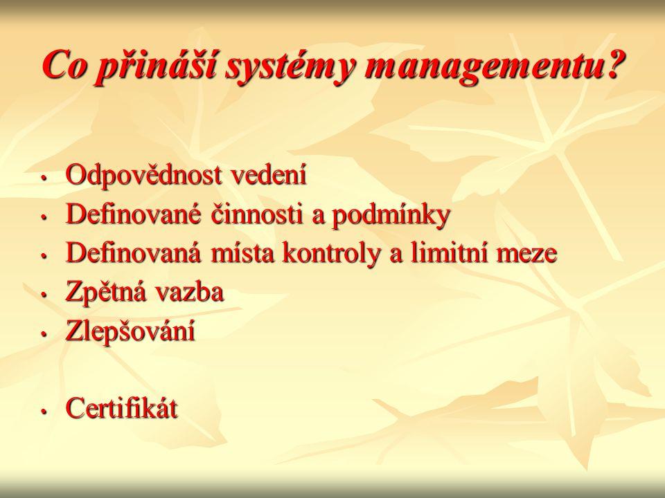 Co přináší systémy managementu