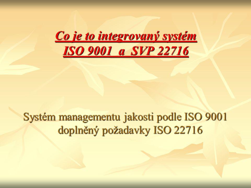 Co je to integrovaný systém ISO 9001 a SVP 22716