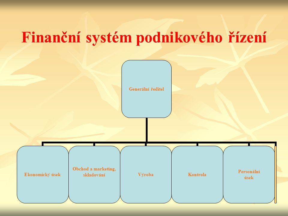 Finanční systém podnikového řízení