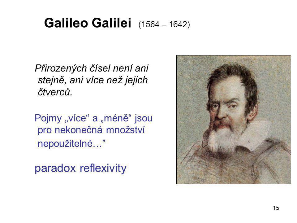 Galileo Galilei (1564 – 1642) paradox reflexivity