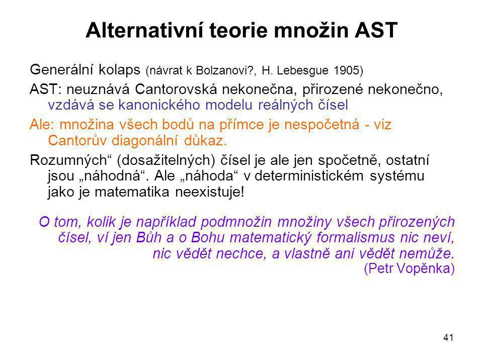 Alternativní teorie množin AST