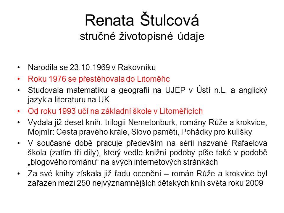 Renata Štulcová stručné životopisné údaje