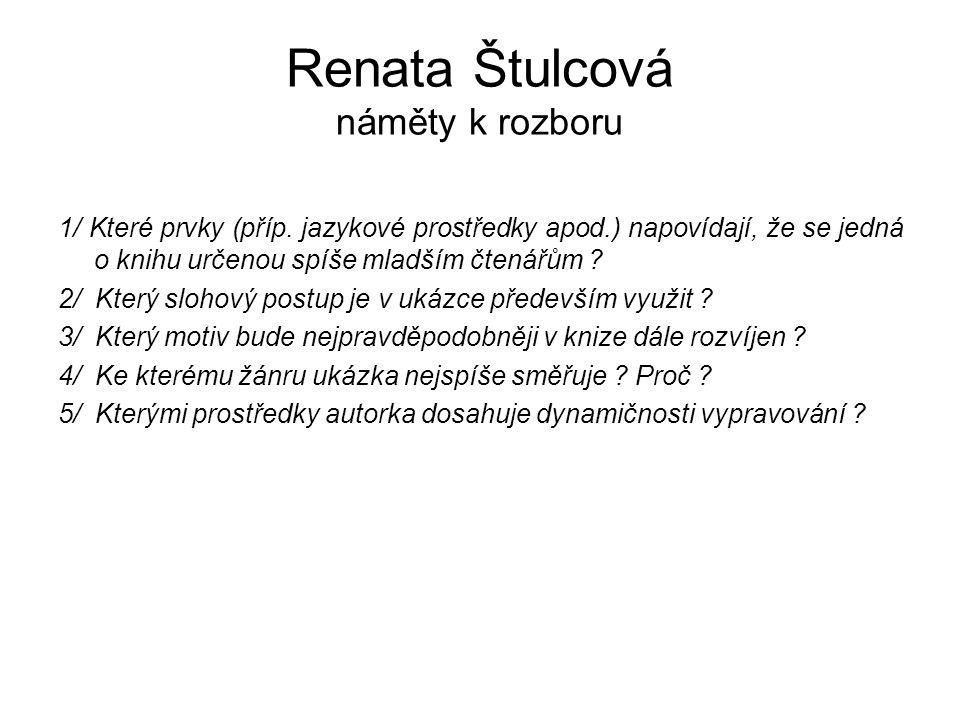 Renata Štulcová náměty k rozboru