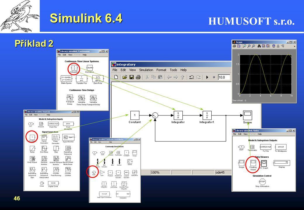 Simulink 6.4 Příklad 2
